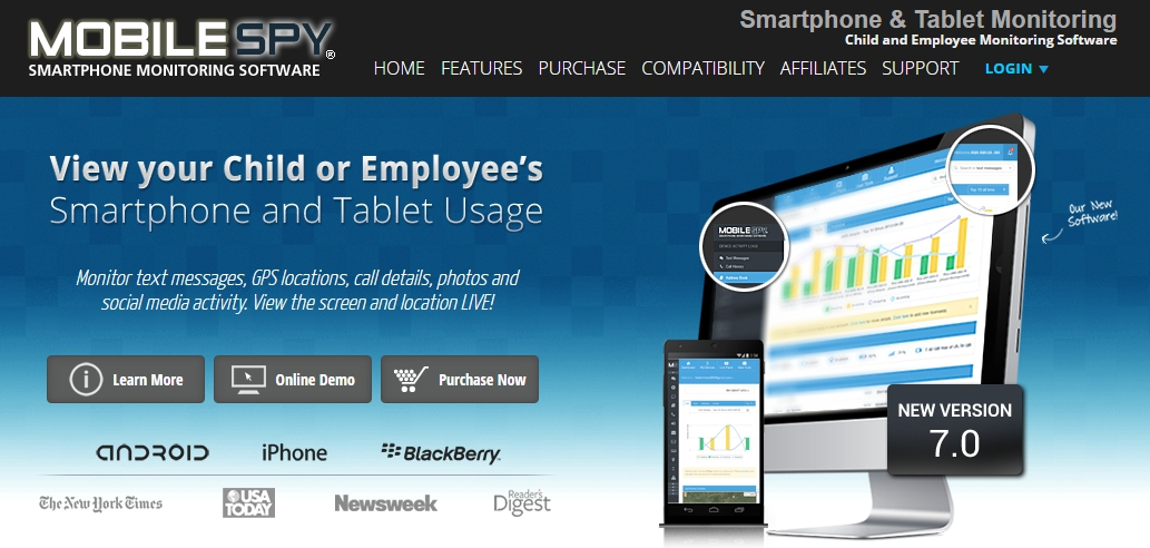 Mobile-Spy-Software-Homepage-Screenshot