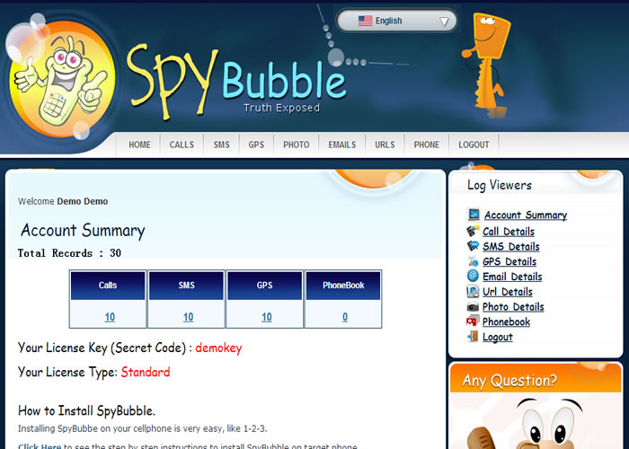 Product-Page-Of-Spybubble-Software