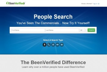 BeenVerified Homepage For Backgroung Checks