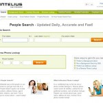 Image Of Intelius People Search Homepage